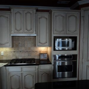 Grey Stained Oak Kitchen Cabinets