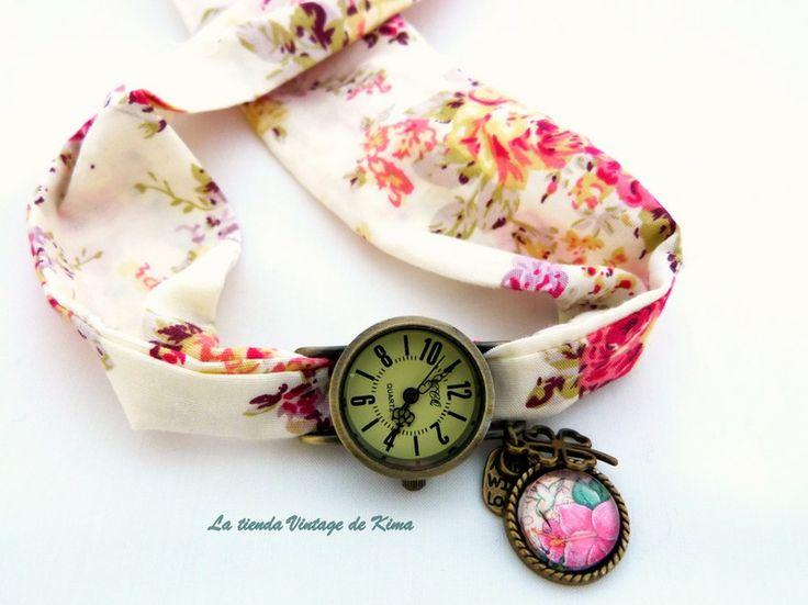 Reloj pulsera tela  de La Tienda Vintage de Kima por DaWanda.com