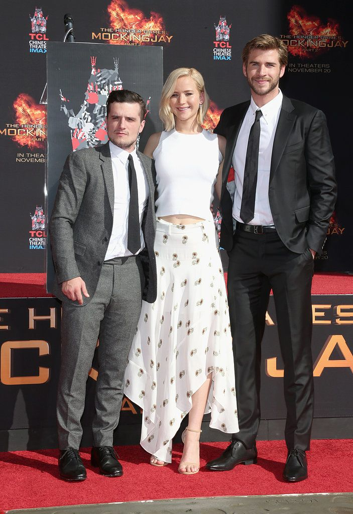 Jennifer Lawrence, Liam Hemsworth, and Josh Hutcherson Leave Their Stamp on Hollywood