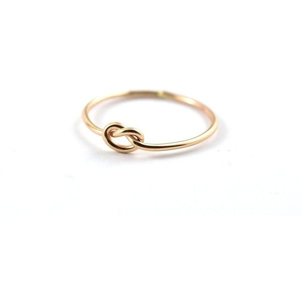 Love knot ring, Simple knot ring, Gold knot ring, Tie the knot ring,... ($25) ❤ liked on Polyvore featuring jewelry, rings, love knot rings, gold love knot ring, gold rings, tie knot ring and gold jewelry