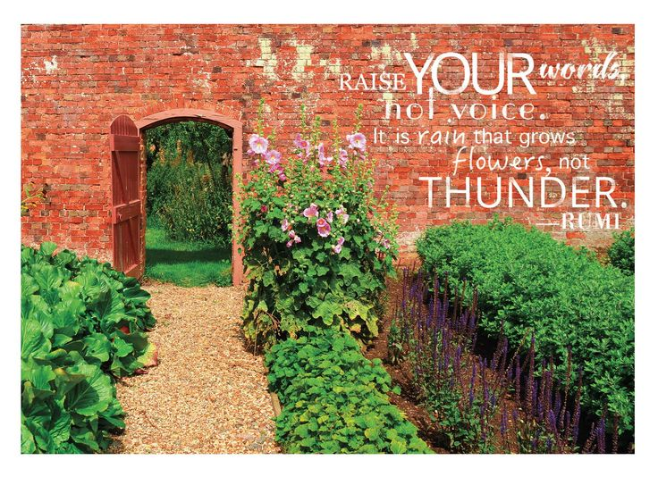 """""""Raise your words, not your voice. It is rain that grows flowers, not thunder"""" Card by Breanne Rogers"""