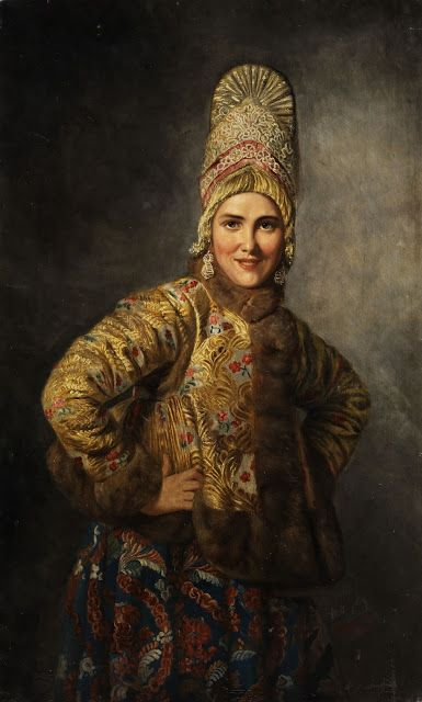 A Russian girl by Carl Wenig,1904