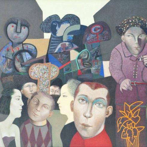 Gonzalo Cienfuegos , Manifiesto Social, 2014, Oleo sobre tela, 120 x 140 cm