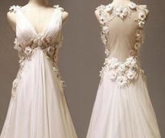 Custom make Vintage Wedding Dress A LINE Bridal Gown by wonderxue