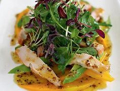 Salade de poulet, mangue et avocat