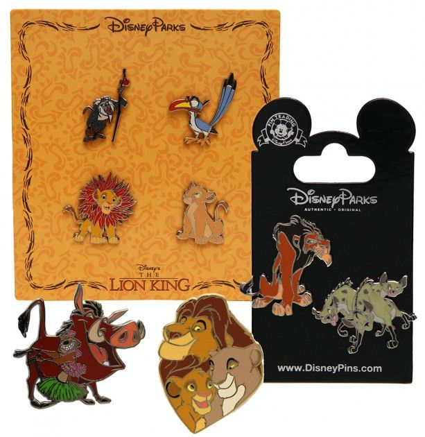 Commemorative merchandise for the 20th anniversary of Disney's 'The Lion King' at Disney Parks.