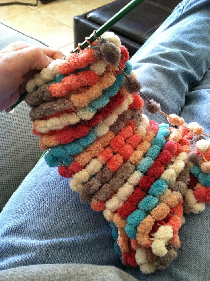 Crochet Scarf Pattern Using Pom Pom Yarn : 1000+ images about Crochet Hats, Scarves, Slippers ...