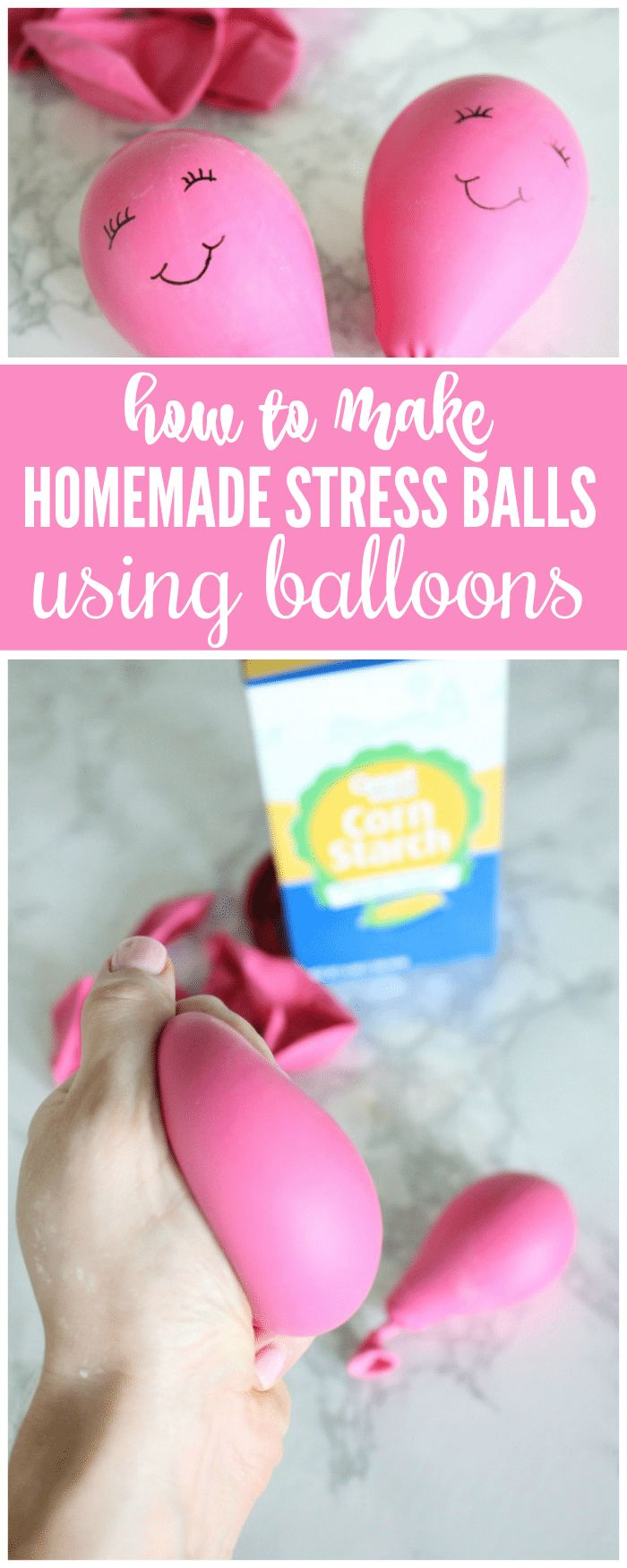 how to make stress balls with balloons and cornstarch