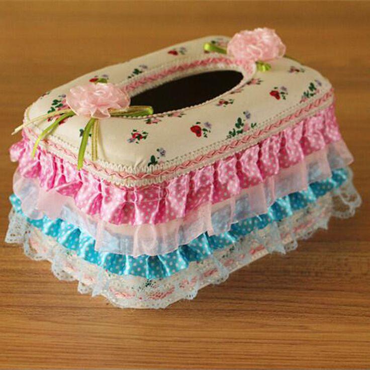 ホット販売かわいい ファッション高品質ピンク レース フラワー弓タオル ポンピング ティッシュ カバー ナプキン ボックス小売# s406(China (Mainland))