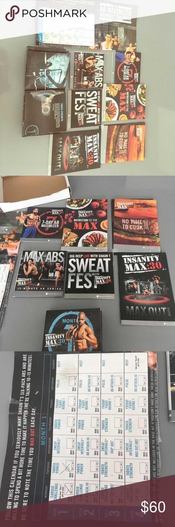 Complete Insanity Workout 💦 Amazing program. Authentic. Amazing results. The calendar is written. Food guide included. Thanks for looking. Feel free to make offers. Free gift with bundle 🎁 Other