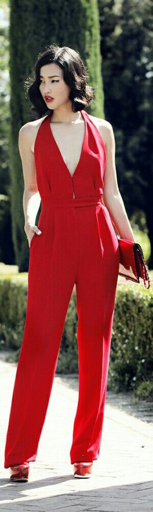 Valentino Jumpsuit & Clutch / Fashion by Gary Pepper