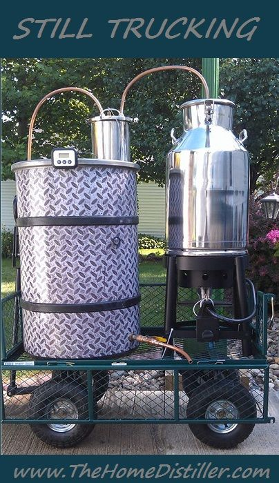 Love this rig! Home made, DIY, moonshine still