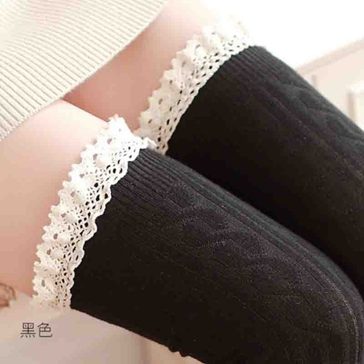 High Knee Socks Thigh High Socks Women's Stockings Lace Warm Socks Women Sexy Stocking Medias Pantyhose Female Stockings WZ1054