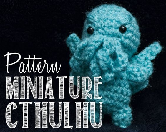I just want to put this little guy on a keychain! Easy Miniature Cthulhu Two-Hour Amigurumi Crochet Pattern