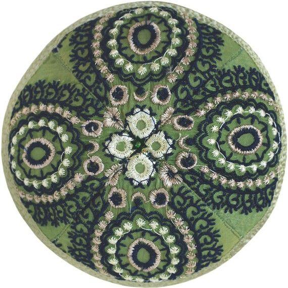 embroidered kippah
