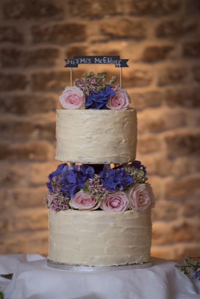 Rustic Flower Cake Relaxed Bohemian Glamour Pink Blue Wedding http://sarahfyffe.ie/
