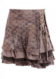 layered skirt good ex of lace up using metal rings