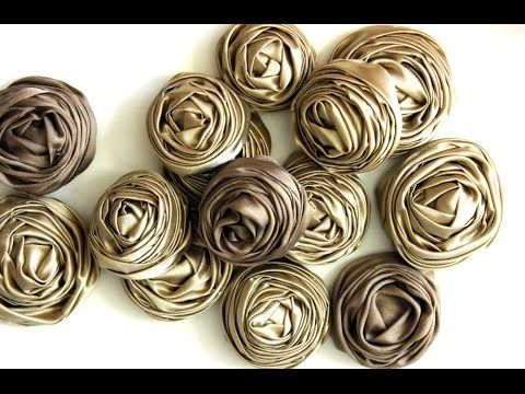 Rolled Ribbon Rose Tutorial - DIY - YouTube