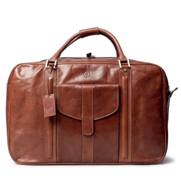 Luxury Italian Leather Men's Suitcase Maurizio Chestnut Tan | Maxwell Scott Bags | Wolf & Badger / Men / Accessories / Travel