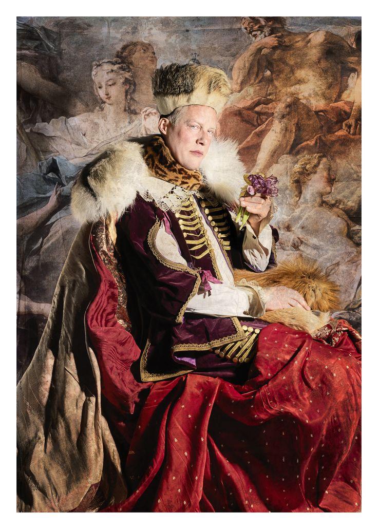 "Photo by Jim Lyngvild.  Danish minister of war and warfare. ""Carl Holst"""