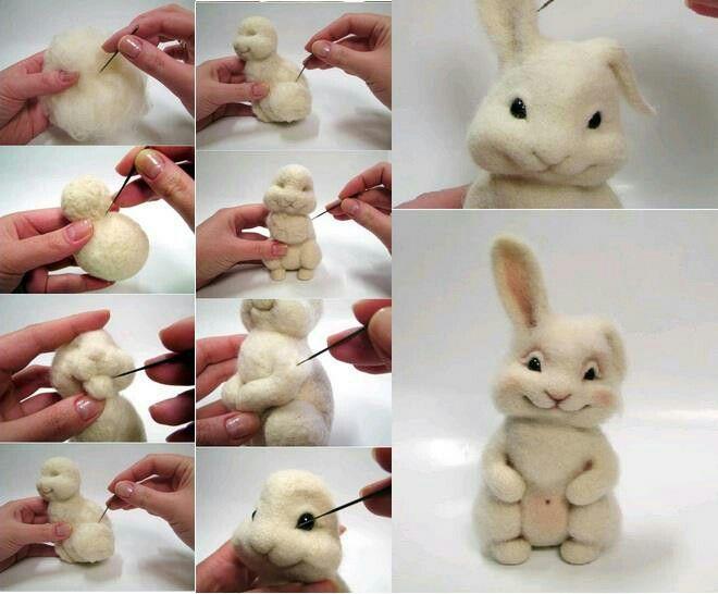 Schattig konijn maken van fondant