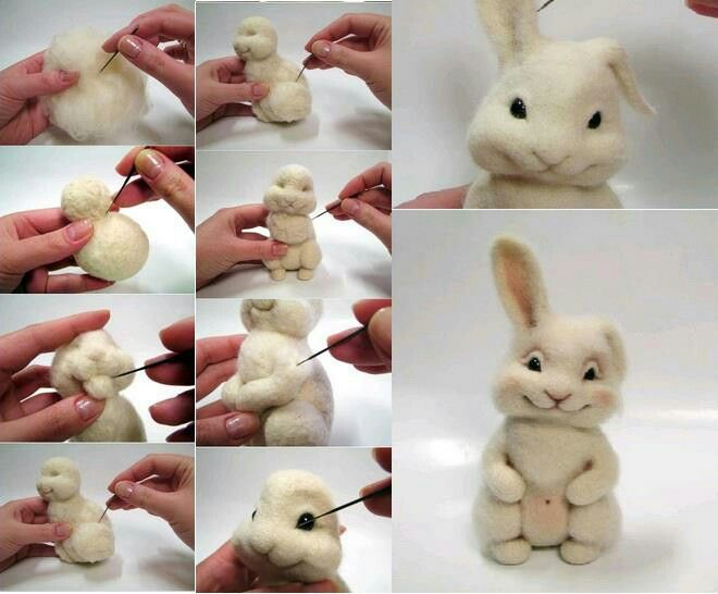 cute rabbit idea...with polymer clay.