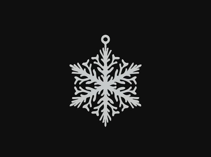 Snowflake 01 by vanca - 3D printed ornament