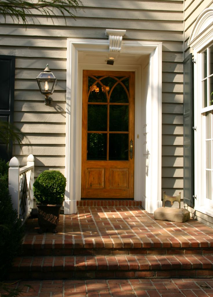 entry door and brick entrance