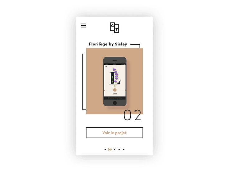 Portfolio #3 Mobile version by Clémence Taillez