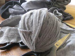 Oud t-shirt knippen tot haak- of breigaren
