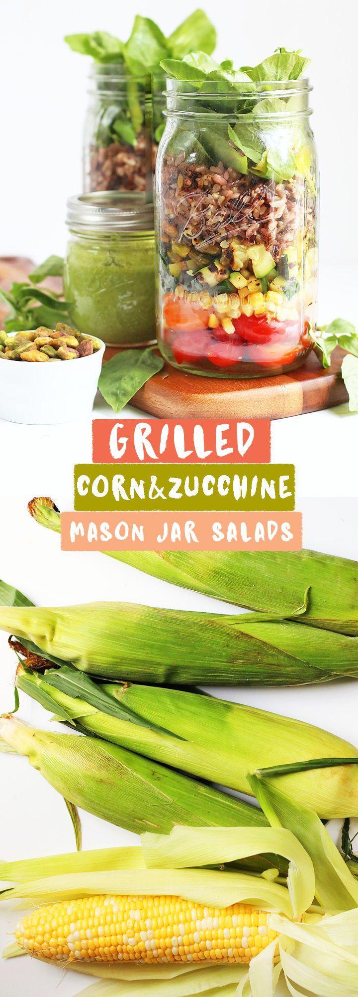 Grilled Corn & Zucchini Salad