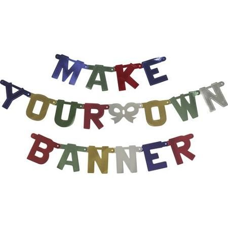 Best 25 make your own banner ideas on pinterest pennant banner jointed banner kit primary color customize your own banner with the jointed banner kit each package contains 93 letters numeral and joiner pieces and 50 solutioingenieria Image collections
