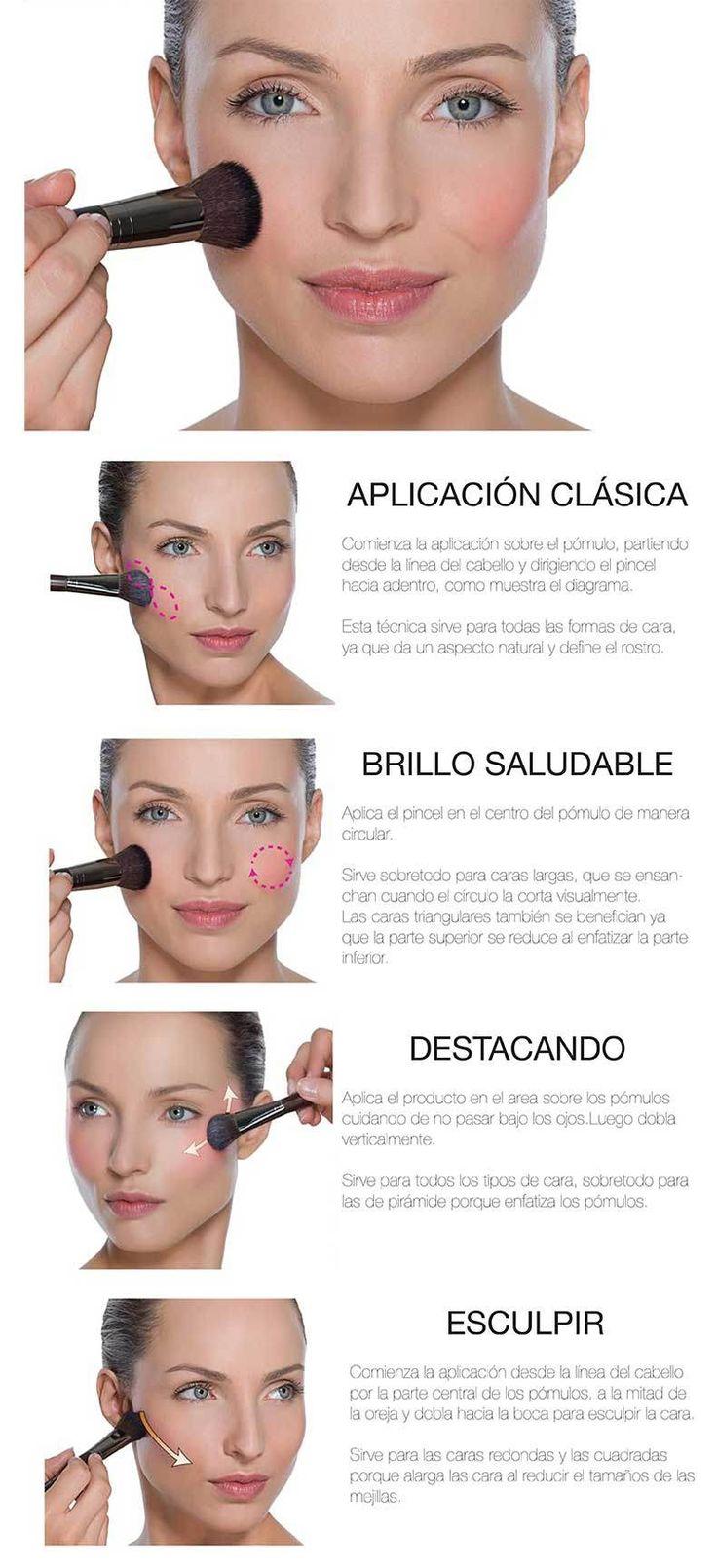Aplicación del #colorete #rubor. Mucho más sobre maquillaje en www.rincondebelleza.com