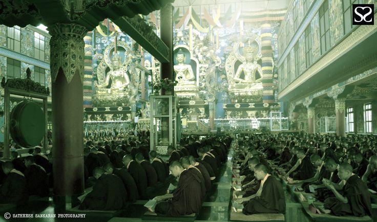 prayer @ Golden Temple Coorg Satheesh Sankaran Photography www.facebook.com/justanothercreativesoul www.flickr.com/photos/justanothercreativesoul