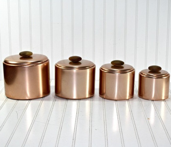 42 best images about canisters on pinterest copper for Decor containers coles