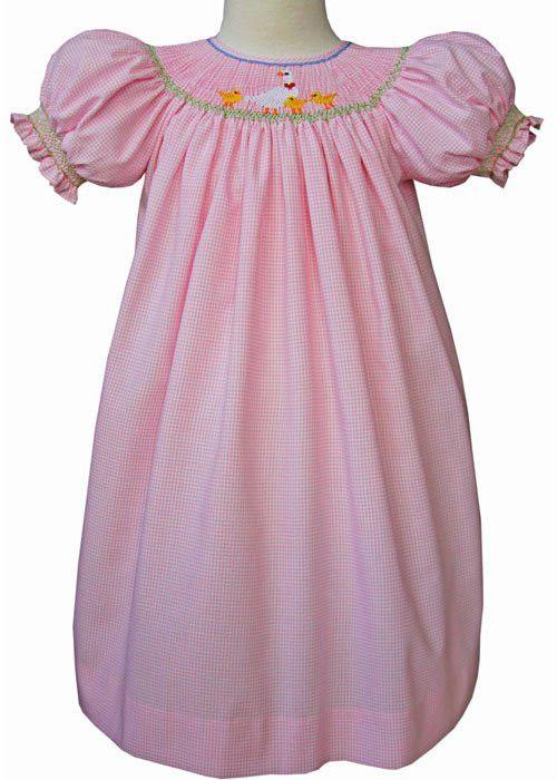 Baby Opal Ducklings Girls Smocked Easter Dress – Carousel Wear