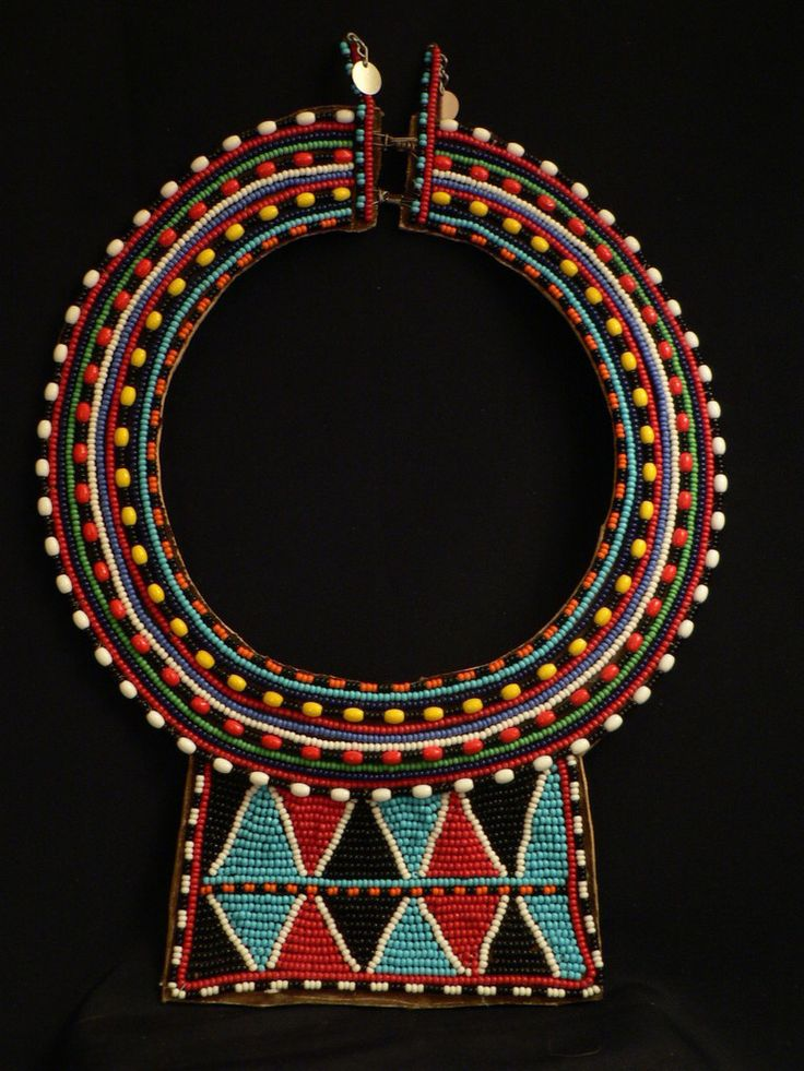 Maasai Beaded Tribal Collar Necklace Kenya