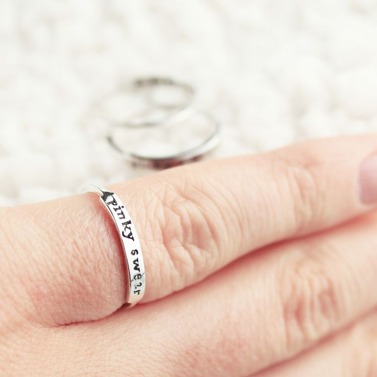Pinky Swear! Available now at www.shopdixi.com / christmas / stocking fillers / friendship rings / gift ideas / pinky promise / love / quotes