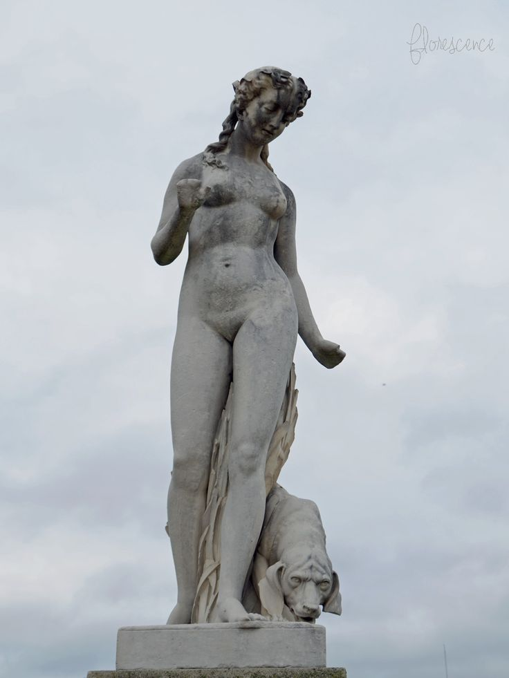 Statue of Nymph by Edmond Leveque in the Tuileries Garden, Paris, (c) Floresence
