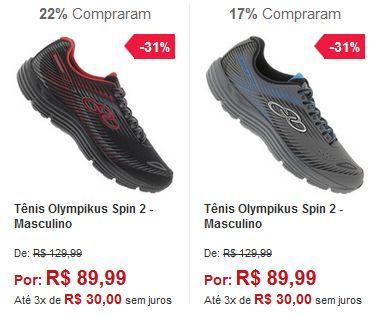 Tênis Olympikus Spin 2 - Masculino - 2 Cores Disponíveis << R$ 8999 em 3 vezes >>