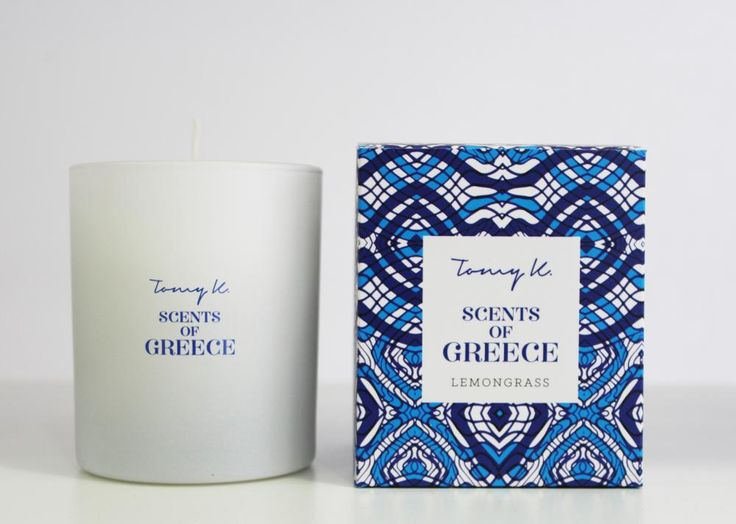"Green Blu - ""TOMMY K."" Scents of Grecce scented candle Lemongrass 150gr"