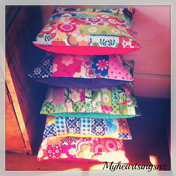 Vintage fabric cushions