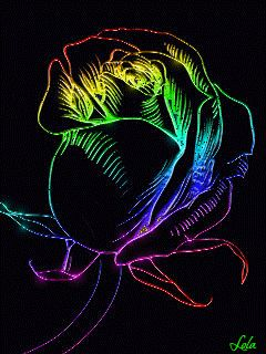 Colorful neon flowers Mobile Screensavers available for free download.