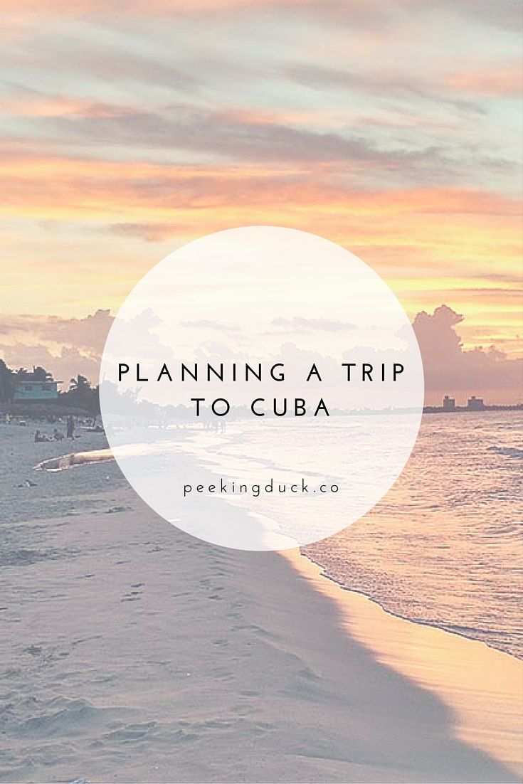 Everything you need to know about planning a trip to Cuba. http://propertiesforsalecuba.com/