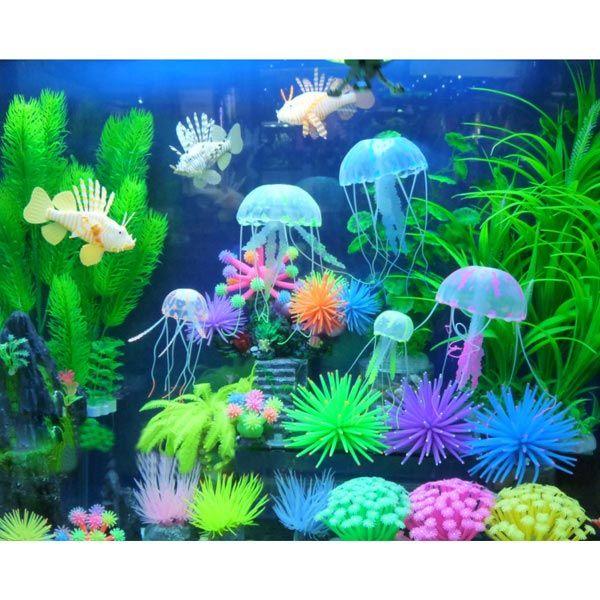 Silicone aquarium fish tank decor artificial coral plant for Decoration aquarium 60 litres