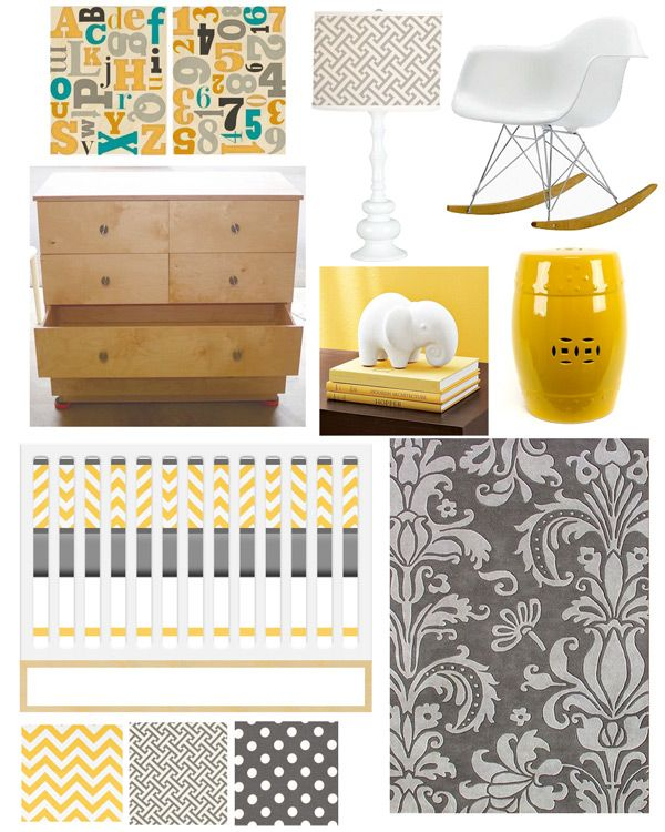 Love the yellow and gray and i adore the fabric choices for Yellow nursery fabric