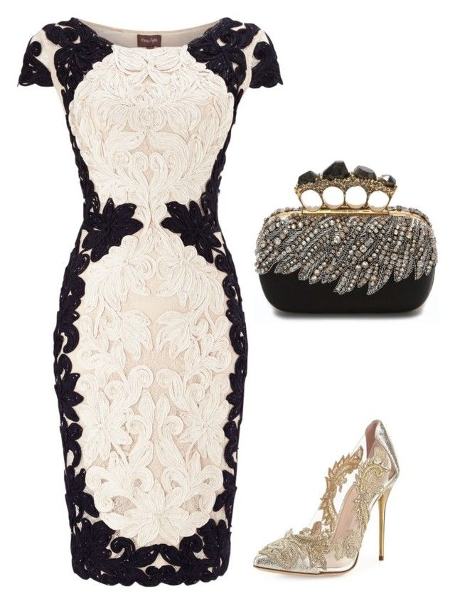 """""""Untitled #116"""" by szevaj on Polyvore featuring Phase Eight, Oscar de la Renta and Alexander McQueen"""