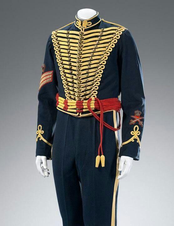 Royal Gloucester Hussar's uniform,  British 1900