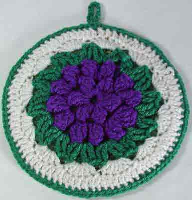 Maggie's Crochet · Grape Cluster Potholder Free Pattern