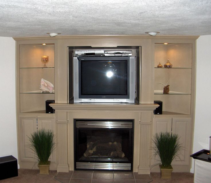 Corner Fireplaces U0026 Tv For Basements | Entertainment Center   Fireplace  Combo